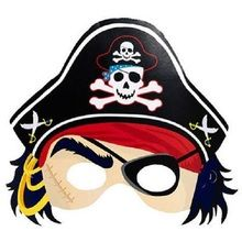 Pirate's Paper Masks (pack of 8)