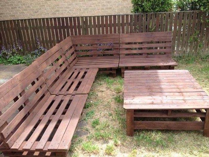 1000 id es sur le th me canap de palette en bois sur for Idee jardin basse goulaine