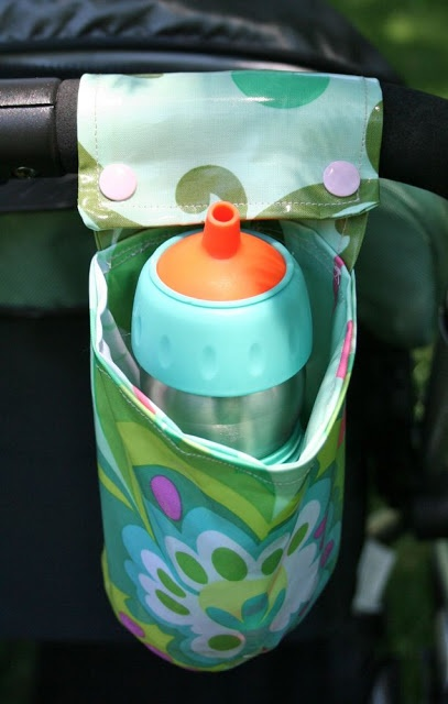 Quality Sewing Tutorials: Laminated Cotton Cup Holder tutorial by Cheryl of Sew Can Do