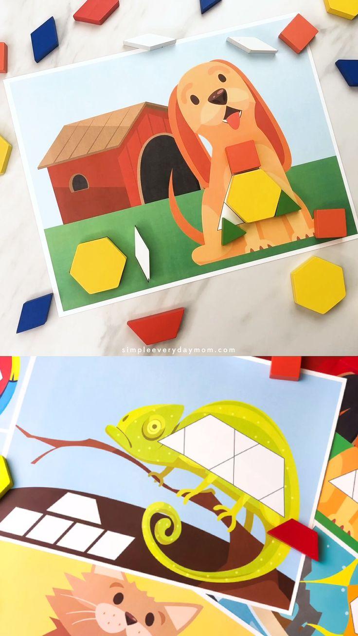 Pet Pattern Block Mats For Kids