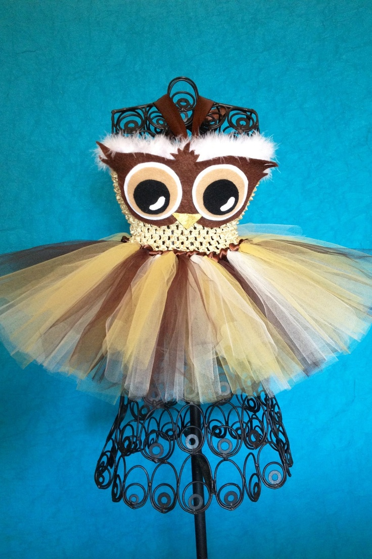 Owl Tutu Dress (NB to 3T). $35.00, via Etsy.