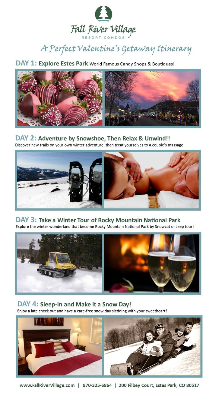 A perfect Valentine's Weekend Itinerary to help you getaway with the one you love, make adventures together and moments to cherish! #EstesPark #CO #Romance