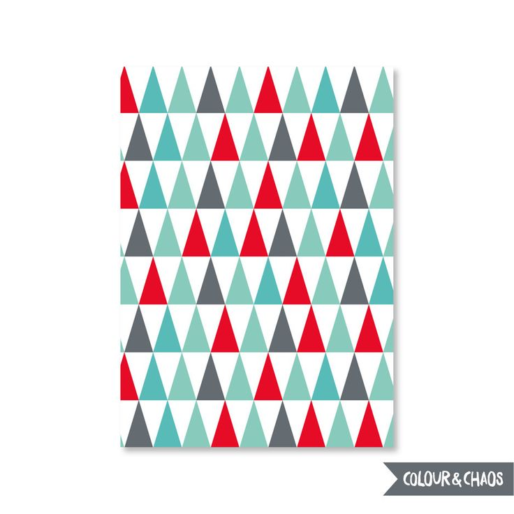 Silly Season A6 Greeting Card (Multi Triangles)