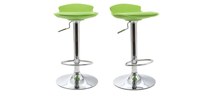NOVA Modern Green Bar Stool (set of 2)