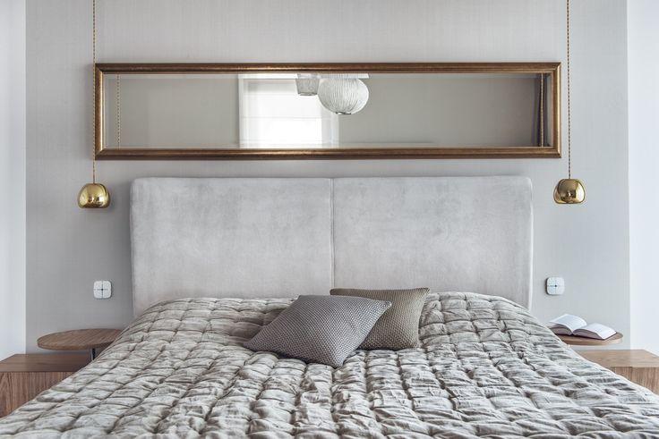 Sypialnia, nowoczesna sypialnia, lustro w sypialni, lustra, aranżacja wnętrz. Zobacz więcej na: https://www.homify.pl/katalogi-inspiracji/21530/6-luster-ktorych-pozazdroscilaby-nawet-sama-krolowa-sniegu