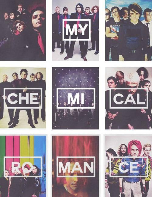 My Chemical Romance <3 all of them. Gerard Way, Ray Toro, Mikey Way, Bob Bryar, Mark Pelliser, and Franky Iero.