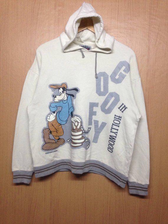 Vintage Goofy Cartoon Hoodie Sweatshirt Spellout Big Print Etsy Hoodies Sweatshirts Hoodie Cartoon Sweatshirts