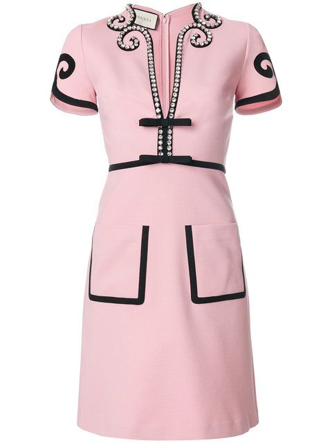 3d8eb887407 Gucci Viscose jersey dress with crystals | Fashion Fashion in 2019 ...