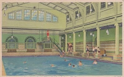 Postcard Of A Pool At The Greenbrier Hotel In White Sulphur Springs Wv Swimming Pinterest