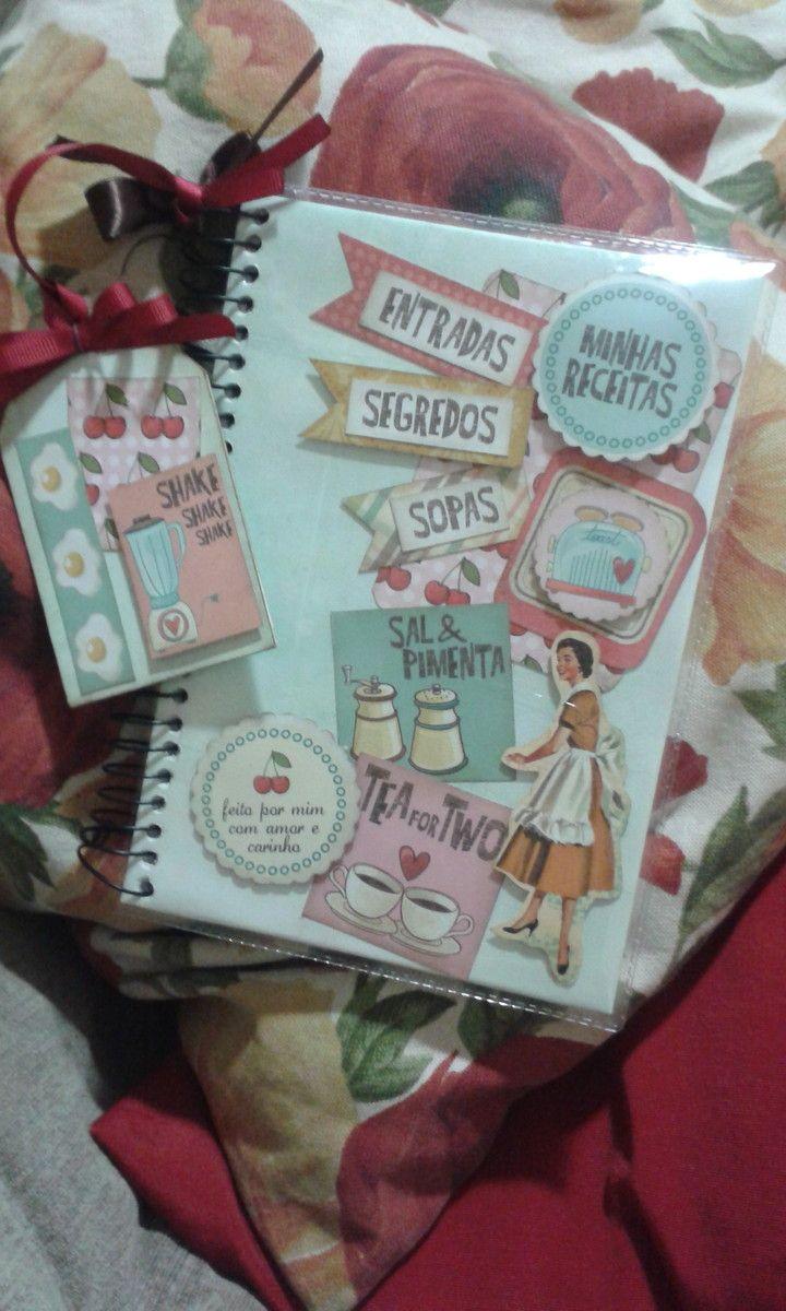 Caderno de receitas | Simara Oechsler Scrap | Elo7