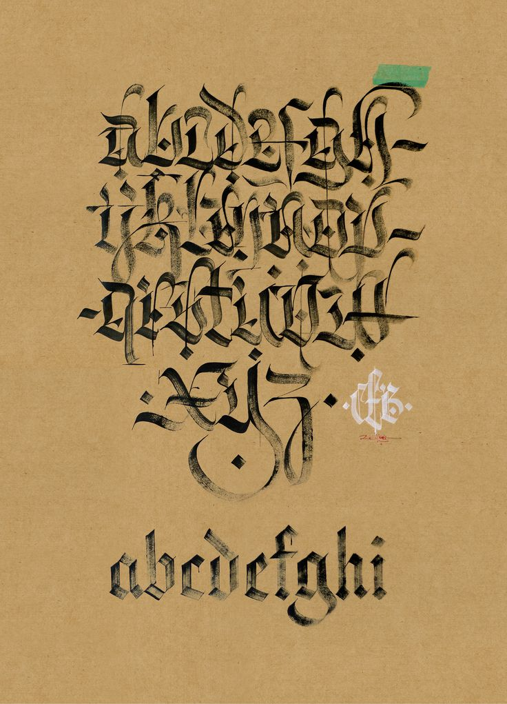 https://flic.kr/p/rJ4gz1 | Fraktur vs. Textura. | Based on an alphabet by Art Core.