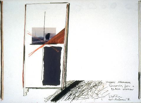 Ralph Hotere (1931 - 2013) | Towards Aramoana (Drawing For A Black Window) - 1981