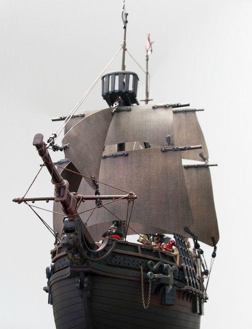 3940 Playmobil Pirate Ship Custom.