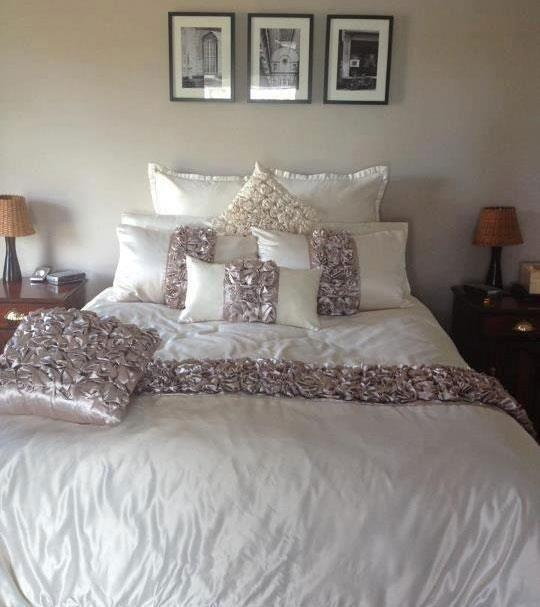 The gorgeous Rosetta from Lorraine Lea Linen on a customers bed.  Shared by one of our consultants from Aussie