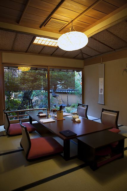 Private dining room at a traditional Japanese restaurant