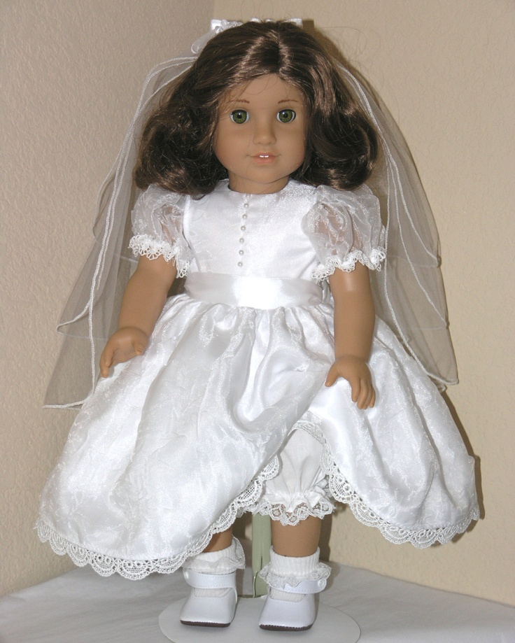 American Girl Clothes First Communion 18 inch by LidiDesigns