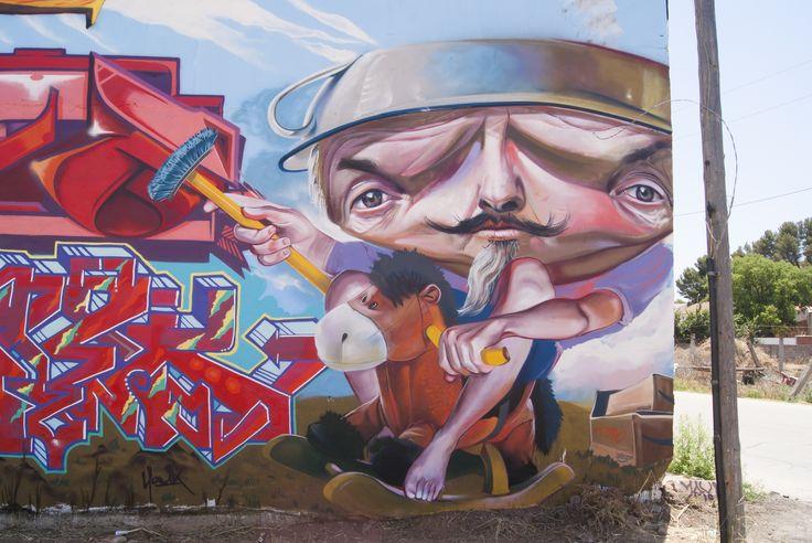 """Mr.Trazo """"El Loco no soy yo"""", Para la Mancha Colors III Quijote"""