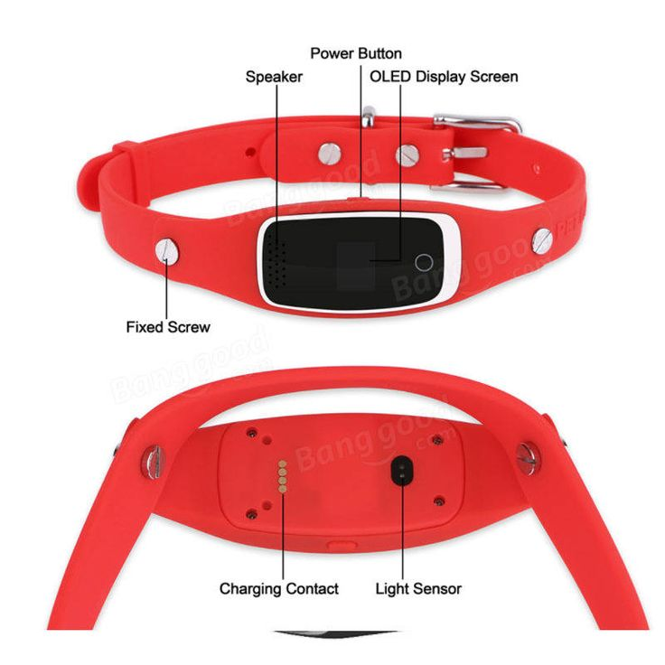 Pet GPS Tracker Collar S1 GPS+LBS+WIFI Positioning Real Time Tracking Smart GPS Locator Free APP