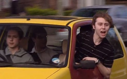 "The Inbetweeners. ""Bus wankers!"""