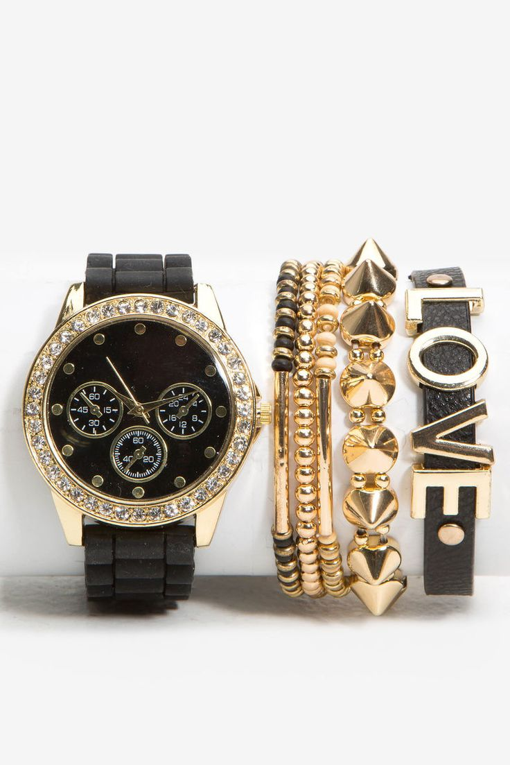Hard Bling Love Jelly Arm Candy WatchHard Bling Love Jelly Arm Candy Watch