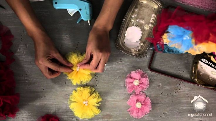 Flower Making with Trims and Embellishments