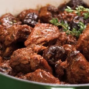Ragout of Pork & Prunes - made this ahead and froze it in portions. It's delicious. The pork is really tender and the port wine sauce is just the right amount of sweet.