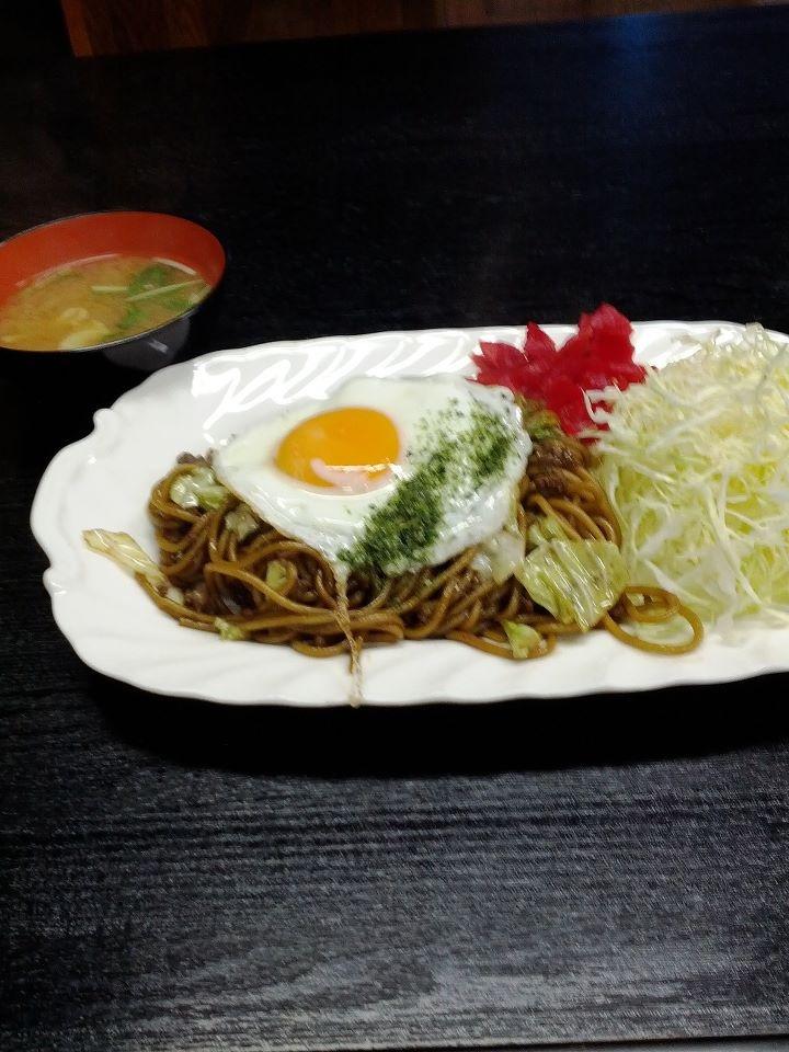 Yakisoba (Fried noodle Japanese style) in famous Yokote Akita Japan