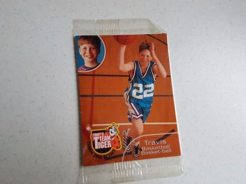 Vintage Cereal Box Premium 1999 Trading Card Tony's Team Tiger Stickers Kellogg