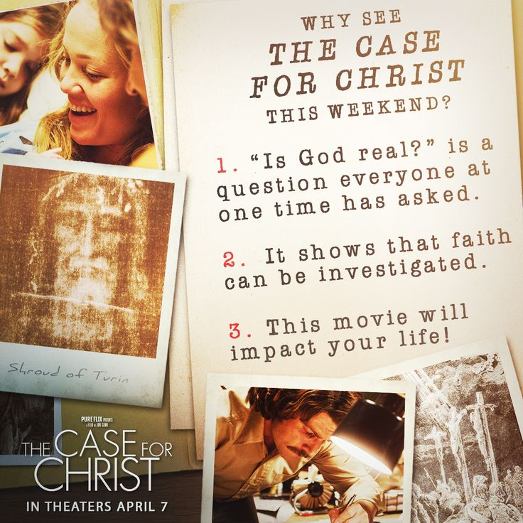 Here are 3 reasons to make your own case and see #CaseForChrist this weekend! Get your tickets here: http://www.jdoqocy.com/click-8301579-12844526