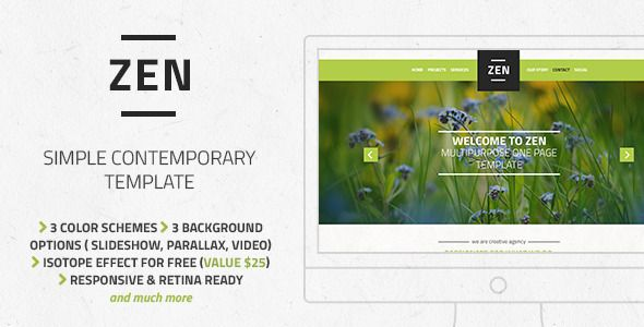 Zen - Multipurpose One Page Template - Creative Site Templates