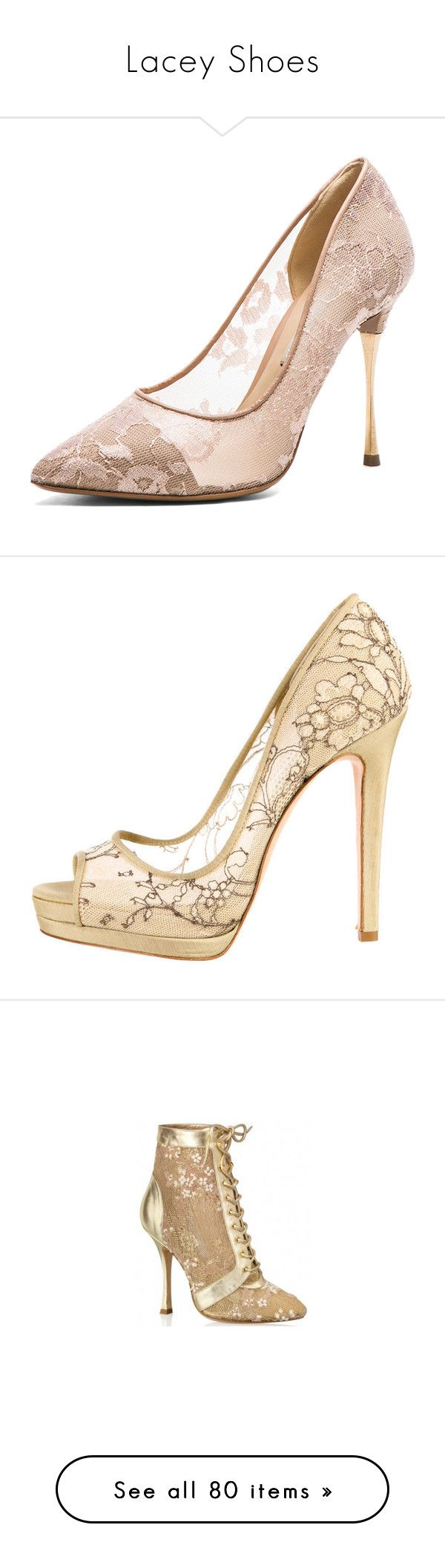 """Lacey Shoes"" by id-masked ❤ liked on Polyvore featuring shoes, pumps, heels, footwear, nude, lace shoes, heel pump, leather sole shoes, nude pumps and nude court shoes"