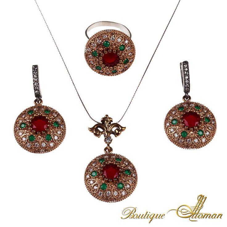 #authentic Huma Sah Hatun Silver Jewelry Set  #jewelry #ottoman