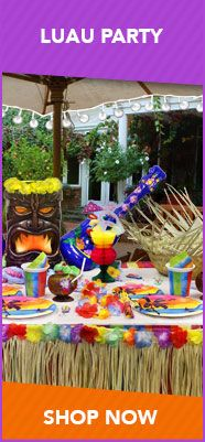 Luau Party Ideas - Luau Party Supplies | Hawaiian Themed Party Supplies | Windy City Novelties
