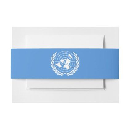 #UN Flag Invitation Belly Band - #Invitation #Belly #Bands #Bellybands