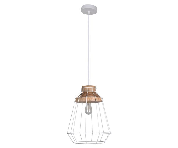 Reuben Large Pendant in Ash/White up to 45W