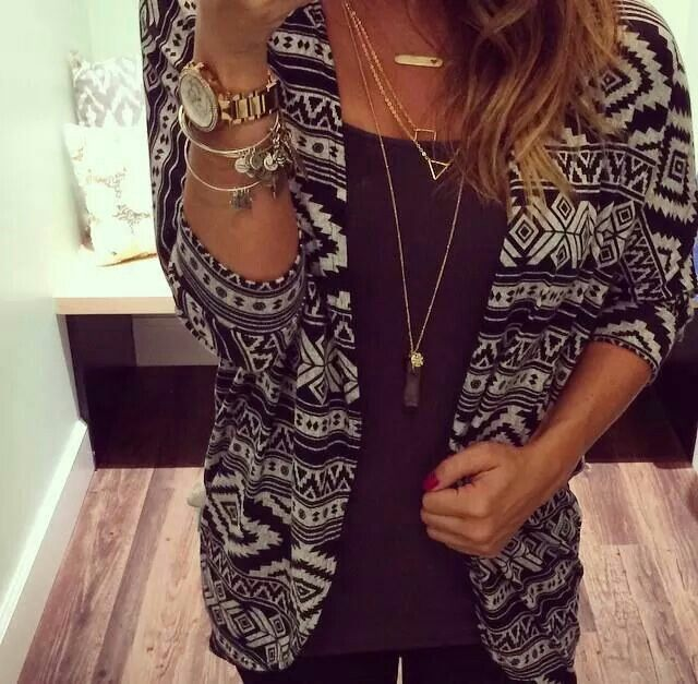 Fall Outfit - Aztec Cardigan