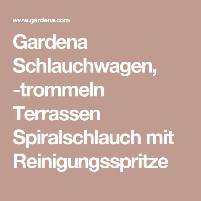 Gardena Schlauchwagen, -trommeln Terrassen Spiralschlauch mit Reinigungsspritze