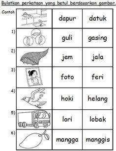 Latihan Suku Kata School kids activities, Preschool