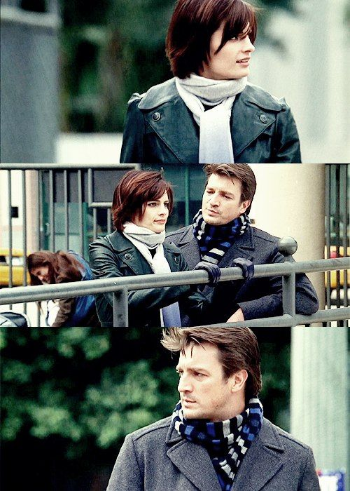 "Stana Katic as Kate Beckett and Nathan Fillion as Richard Castle - Castle - 1x02 ""Nanny McDead"""