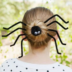 chignon araignée Halloween