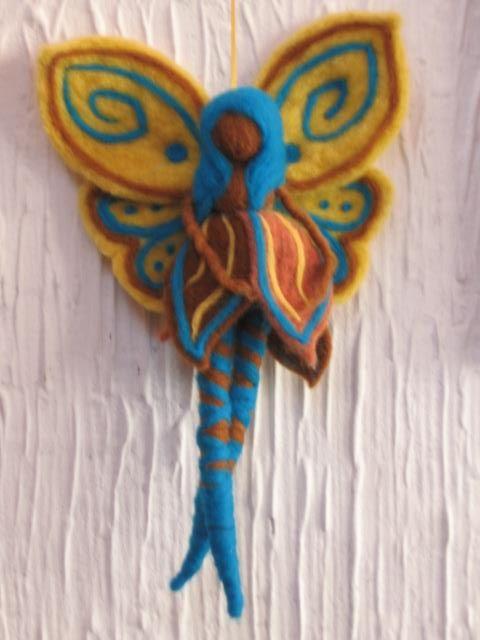 needle-felt fairy by mialma.cl
