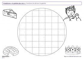 Graphisme de l'épiphanie 12 fiches de graphisme sur le thème de l'épiphanie, pour les élèves de maternelle (moyenne section et grande section). Plusieurs notions travaillées, telles que les lignes verticales, les ponts, les pics, les ronds et l'écriture de mots en capitale.