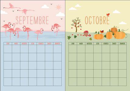 Calendrier perpetuel septembre octobre