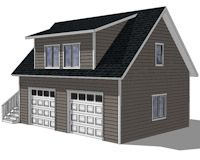10143 Carriage Garage Plans, apartment over garage, ADU plans, 10143