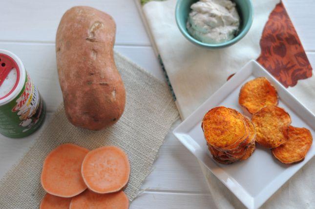 Microwave Sweet Potato Chips || HeathersDish.com