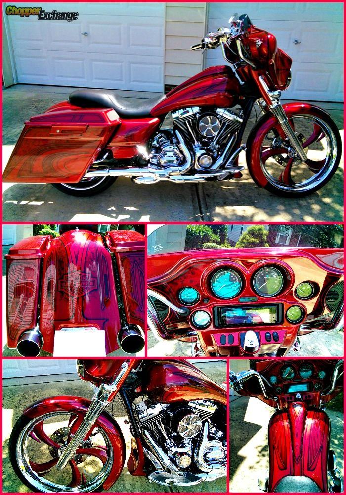 FOR SALE 2011 Harley-Davidson Street Glide   Raleigh, NC   House of Kolor Custom paint   5895 miles   Click the pin for full details or go to www.ChopperExchange.com/488358   #harley #bikerlife #motorcycle #chopperexchange #custom