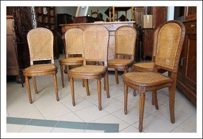 Gruppo sei sedie Luigi XVI in paglia di Vienna seggiole antiche primi 900. Restaurate. Antiquariato