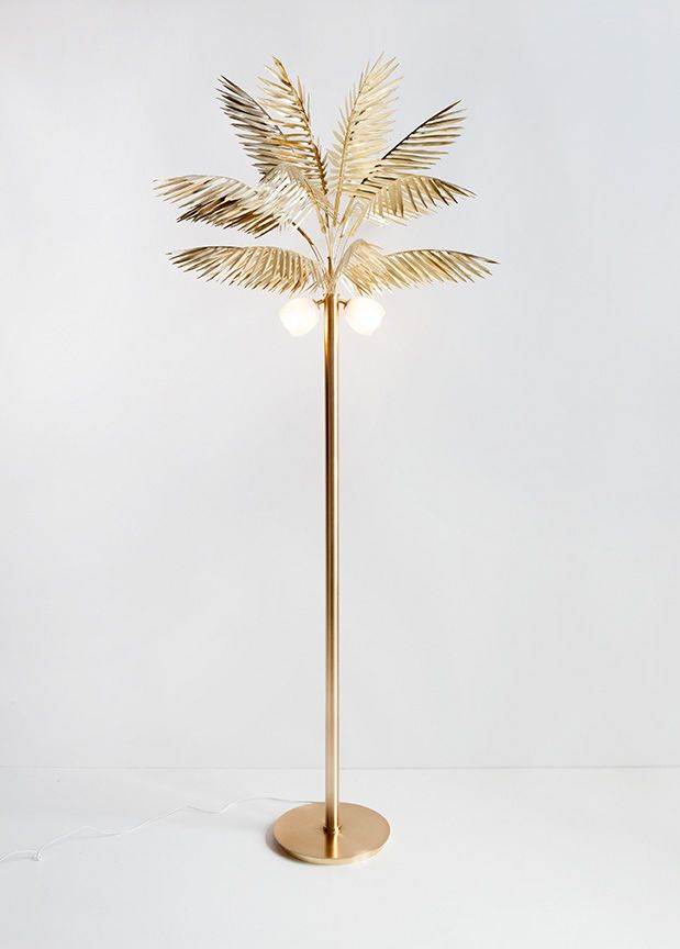 Syrette Lew, of Moving Mountains, designed this crazy covetable Palmyra Lamp as an homage to the splendor of empires past and to the tropical allure of her native Hawaii.