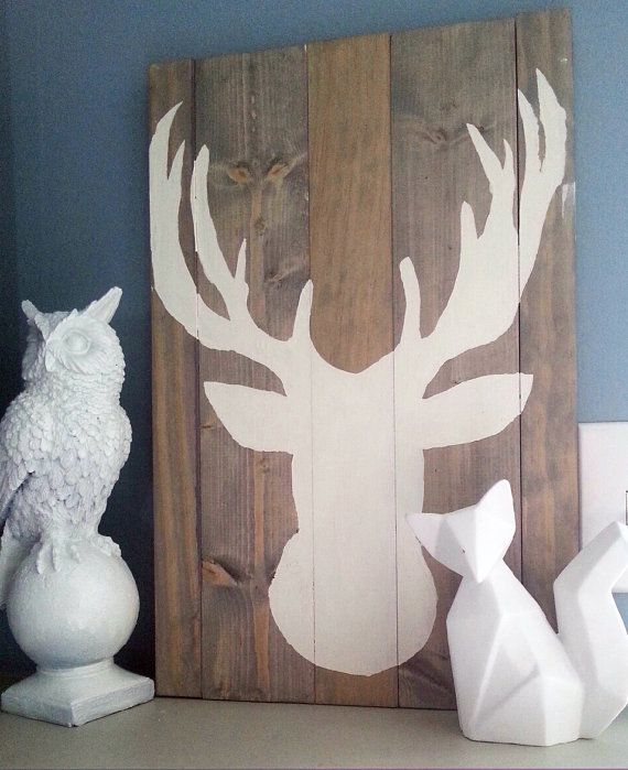 awesome rustic deer silhouette  Etsy listing at https://www.etsy.com/listing/178106045/oh-deer
