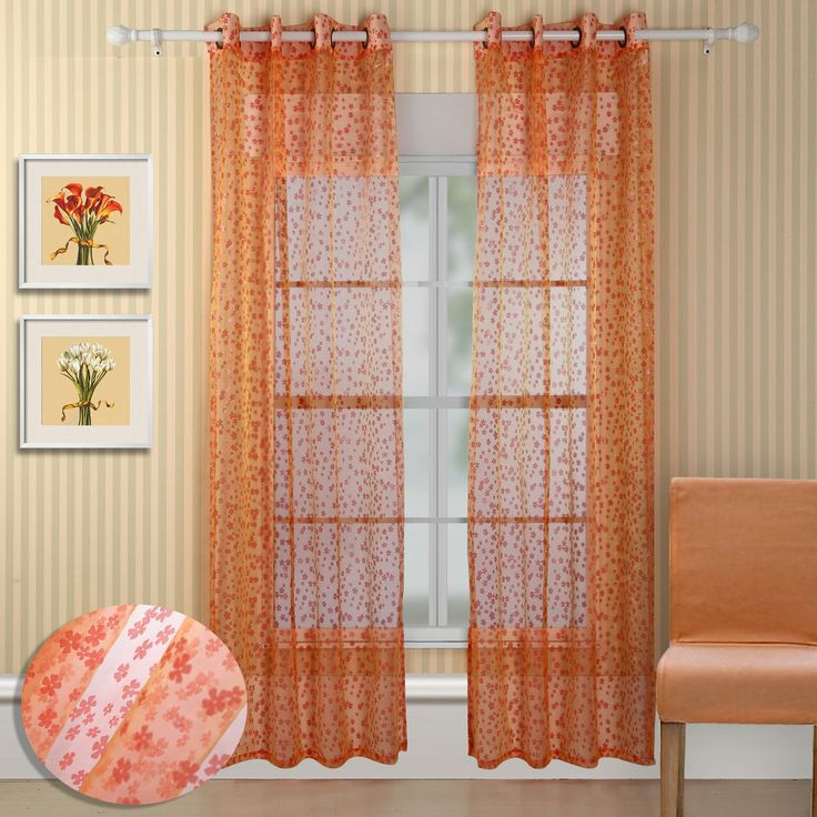 Chic Home Design 27P2424-AG Twinkle Semi-Sheer Curtain